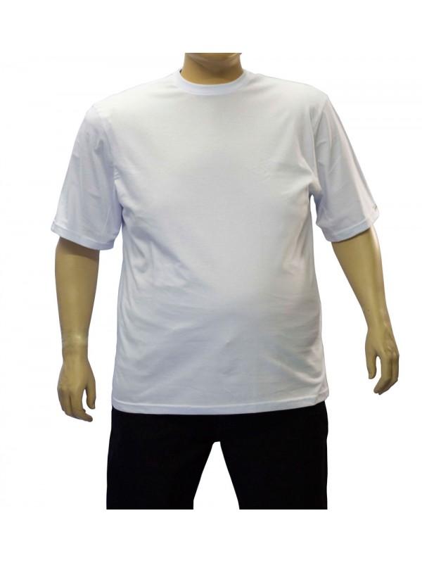 Camiseta Básica Plus Size Branca