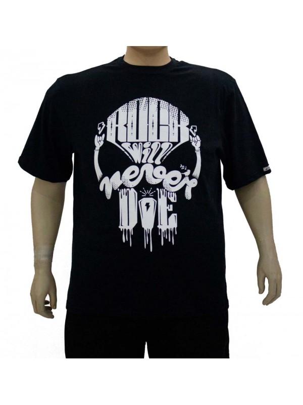 Camiseta Plus Size Rock Preta