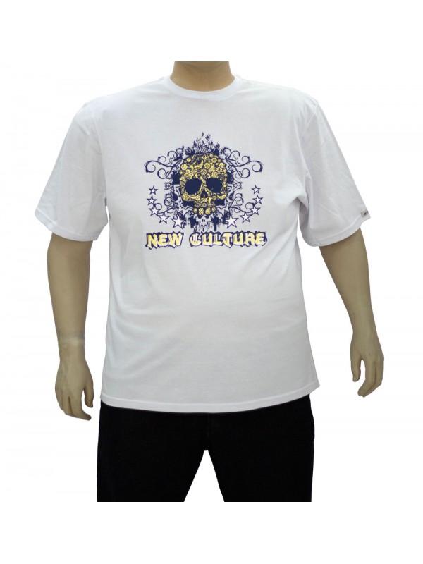 Camiseta Estampada Plus Size New Culture Branca