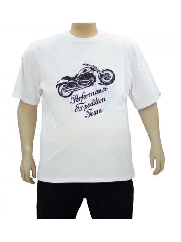 Camiseta Estampada Plus Size Performance Branca