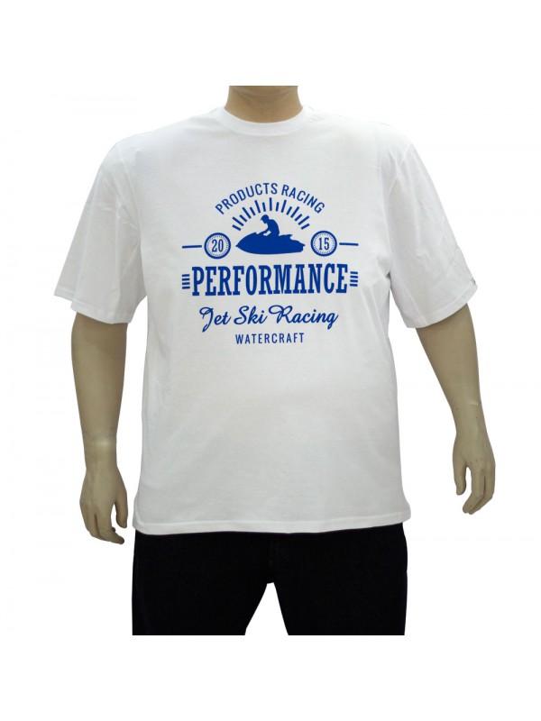 Camiseta Estampada Plus Size Watercraft Branca