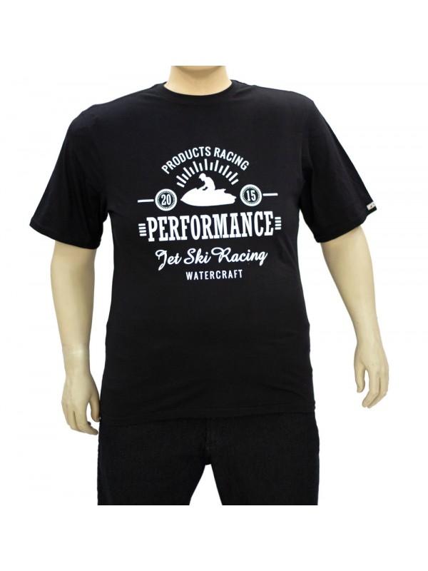 Camiseta Estampada Plus Size Watercraft Preta